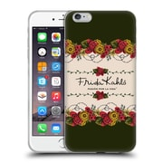 Official Frida Kahlo Red Florals Border Soft Gel Case For Apple Iphone 6 Plus / 6S Plus