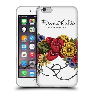 Official Frida Kahlo Red Florals Bunch Soft Gel Case For Apple Iphone 6 Plus / 6S Plus