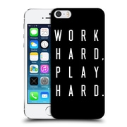 Official Caitlin Workman Typography Work Hard Play Hard Black Hard Back Case For Apple Iphone 5 / 5S / Se