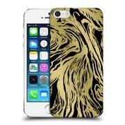Official Caitlin Workman Patterns Marble Gold Black Hard Back Case For Apple Iphone 5 / 5S / Se