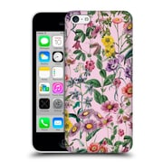 Official Burcu Korkmazyurek Floral Purple Hard Back Case For Apple Iphone 5C