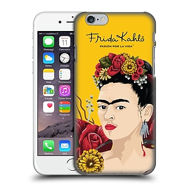 Official Frida Kahlo Red Florals Portrait Hard Back Case For Apple Iphone 6 / 6S