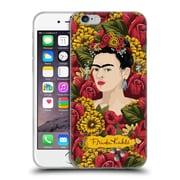 Official Frida Kahlo Red Florals Portrait Pattern Soft Gel Case For Apple Iphone 6 / 6S