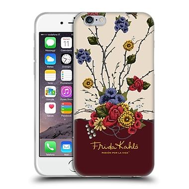 Official Frida Kahlo Red Florals Shrub Soft Gel Case For Apple Iphone 6 / 6S