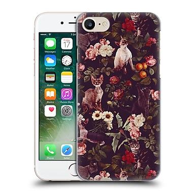Official Burcu Korkmazyurek Animals Cat And Floral Hard Back Case For Apple Iphone 7
