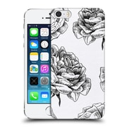 Official Caitlin Workman Black And White Roses Hard Back Case For Apple Iphone 5 / 5S / Se