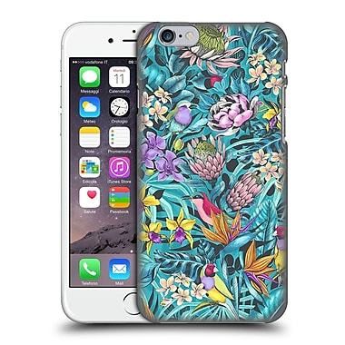 Official Celandine Tropical Pattern Stand Out Teal Hard Back Case For Apple Iphone 6 / 6S