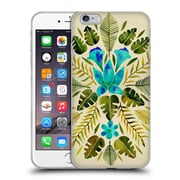 Official Cat Coquillette Nature Green Blue Tropical Symmetry Soft Gel Case For Apple Iphone 6 Plus / 6S Plus
