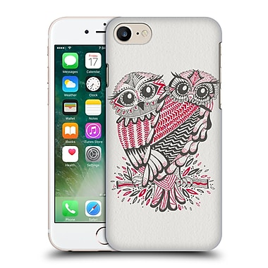 Official Cat Coquillette Birds Owls Grey Red Hard Back Case For Apple Iphone 7