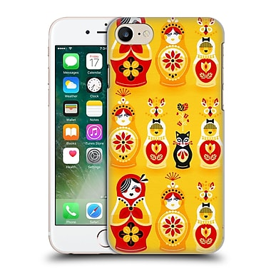 Official Cat Coquillette Watercolour Illustrations Russian Nesting Dolls Yellow Hard Back Case For Apple Iphone 7