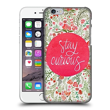 Official Cat Coquillette Quotes Typography 4 Stay Curious Pink Hard Back Case For Apple Iphone 6 / 6S