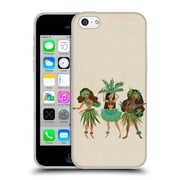 Official Cat Coquillette Watercolour Illustrations Luau Girls Beige Soft Gel Case For Apple Iphone 5C