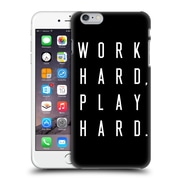 Official Caitlin Workman Typography Work Hard Play Hard Black Hard Back Case For Apple Iphone 6 Plus / 6S Plus