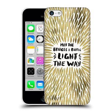 Official Cat Coquillette Quotes Typography 2 Bridges I Burn Gold Hard Back Case For Apple Iphone 5C