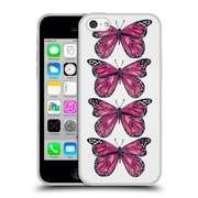 Official Cat Coquillette Insects Pink Butterfly Soft Gel Case For Apple Iphone 5C