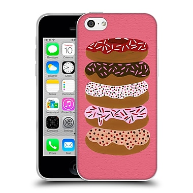 Official Cat Coquillette Sweets Stacked Donuts Pink Soft Gel Case For Apple Iphone 5C