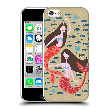 Official Cat Coquillette Watercolour Illustrations Mermaids Craft Soft Gel Case For Apple Iphone 5C
