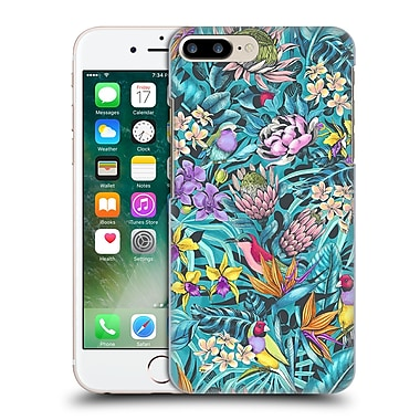 Official Celandine Tropical Pattern Stand Out Teal Hard Back Case For Apple Iphone 7 Plus