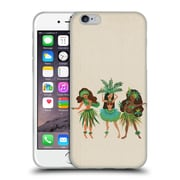 Official Cat Coquillette Watercolour Illustrations Luau Girls Beige Soft Gel Case For Apple Iphone 6 / 6S