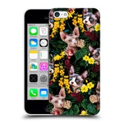 Official Burcu Korkmazyurek Animals Floral And Sphynx Cat Hard Back Case For Apple Iphone 5C