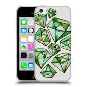 Official Cat Coquillette Watercoloured Gems Emerald Tattoos Soft Gel Case For Apple Iphone 5C