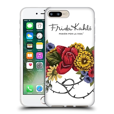 Official Frida Kahlo Red Florals Bunch Soft Gel Case For Apple Iphone 7 Plus