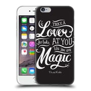 Official Frida Kahlo Typography Lover Black Soft Gel Case For Apple Iphone 6 / 6S