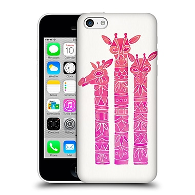 Official Cat Coquillette Animals Pink Ombre Girrafes Hard Back Case For Apple Iphone 5C