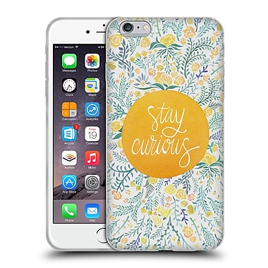 Official Cat Coquillette Quotes Typography 4 Stay Curious Yellow Soft Gel Case For Apple Iphone 6 Plus / 6S Plus