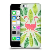 Official Cat Coquillette Birds Flamingos Green Hard Back Case For Apple Iphone 5C