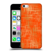 Official Caitlin Workman Patterns Cross Hatch Orange Hard Back Case For Apple Iphone 5C