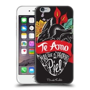 Official Frida Kahlo Typography Heart Soft Gel Case For Apple Iphone 6 / 6S