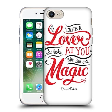 Official Frida Kahlo Typography Lover White Soft Gel Case For Apple Iphone 7