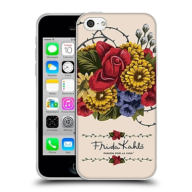Official Frida Kahlo Red Florals Vine Soft Gel Case For Apple Iphone 5C