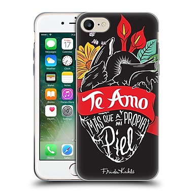 Official Frida Kahlo Typography Heart Soft Gel Case For Apple Iphone 7