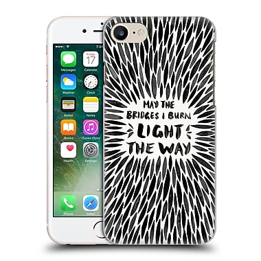 Official Cat Coquillette Quotes Typography 2 Bridges I Burn Black Hard Back Case For Apple Iphone 7