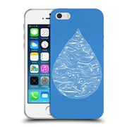 Official Cat Coquillette Watercolour Illustrations 2 Blue Water Drop Soft Gel Case For Apple Iphone 5 / 5S / Se