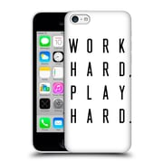 Official Caitlin Workman Typography Work Hard Play Hard Hard Back Case For Apple Iphone 5C