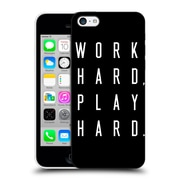 Official Caitlin Workman Typography Work Hard Play Hard Black Hard Back Case For Apple Iphone 5C