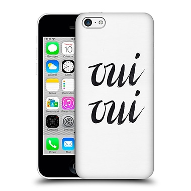 Official Caitlin Workman Typography Oui Oui Hard Back Case For Apple Iphone 5C