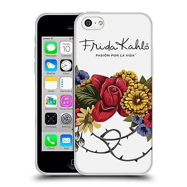 Official Frida Kahlo Red Florals Bunch Soft Gel Case For Apple Iphone 5C
