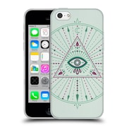 Official Cat Coquillette Mandala Evil Eye Green Soft Gel Case For Apple Iphone 5C