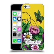 Official Frida Kahlo Purple Florals Butterfly Soft Gel Case For Apple Iphone 5C