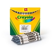 Crayola Single-Color Refill Crayons, Gray, 12 Per Box (52-0836-052)