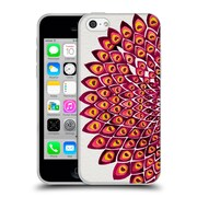 Official Cat Coquillette Mandala Peacock Pink Soft Gel Case For Apple Iphone 5C