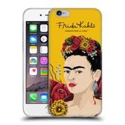 Official Frida Kahlo Red Florals Portrait Soft Gel Case For Apple Iphone 6 / 6S
