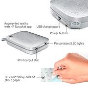 HP Sprocket 200 Mobile Bluetooth Color Inkjet Printer, Luna Pearl (1AS85A#B1H)