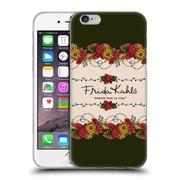 Official Frida Kahlo Red Florals Border Soft Gel Case For Apple Iphone 6 / 6S