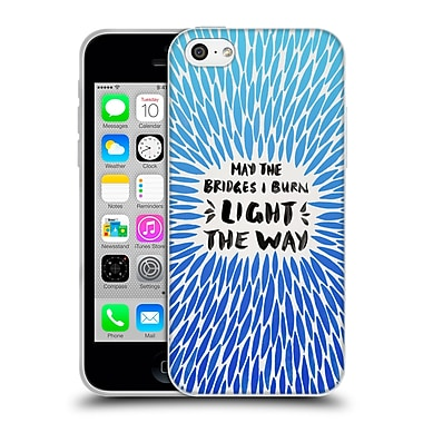 Official Cat Coquillette Quotes Typography 2 Bridges I Burn Blue Soft Gel Case For Apple Iphone 5C