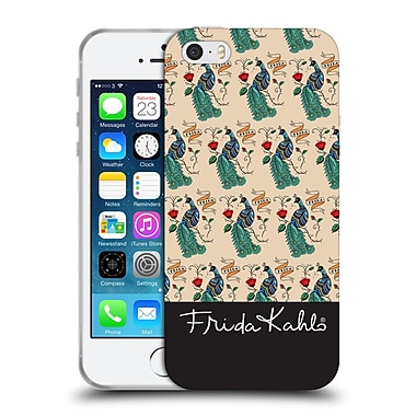 Official Frida Kahlo Peacock Pattern Soft Gel Case For Apple Iphone 5 / 5S / Se